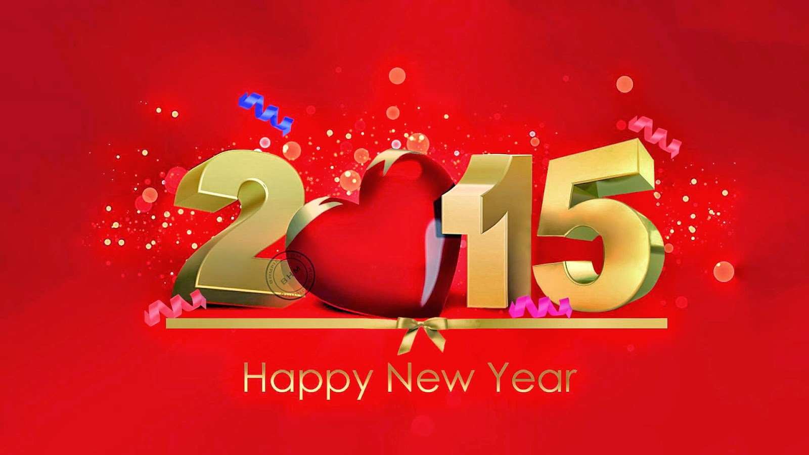 Wallpaper download new year 2015 - Golden Red Happy New Year 2015 Wallpapers Free