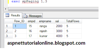Server Side Paging in SQL Server