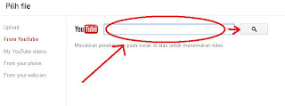 Meletakan URL Video Youtube