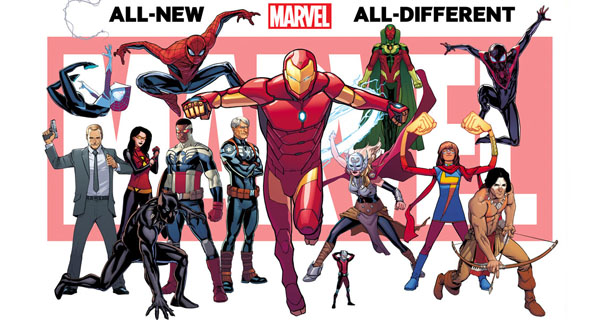 Aspectos de alguos de los personajes de All-New All-Different Marvel