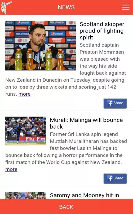 ICC Cricket World Cup 2015 Fantasy Android App released+Download 4