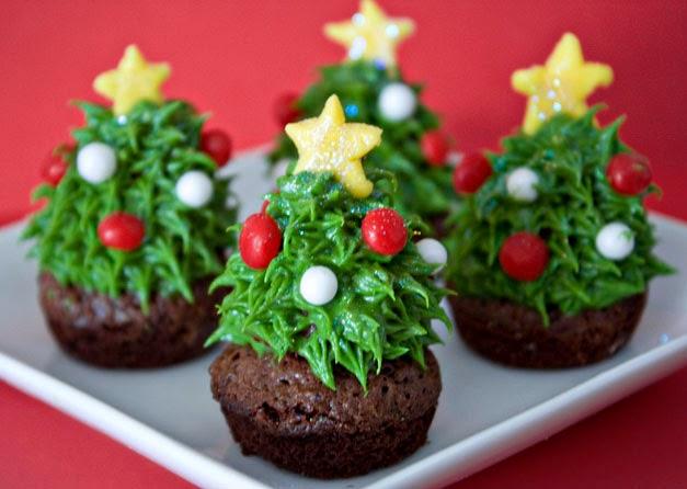 Cocina creativa de Navidad - cupcakes de chocolate y fresa - Weica's Sweet Tooth