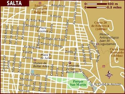 Salta Mapa Imagen