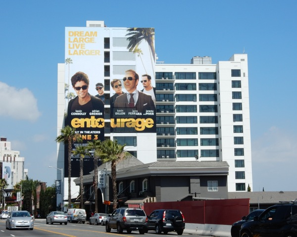 Giant Entourage film billboard