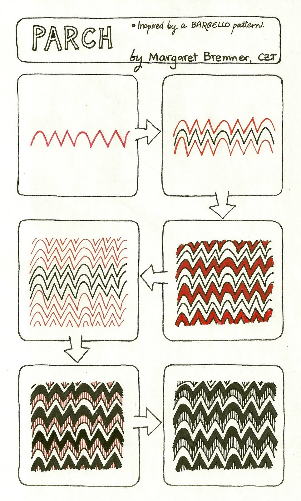 Enthusiastic Artist Parch Tangle Instructions