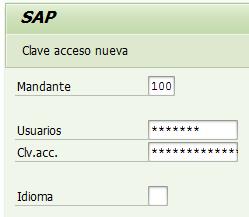Acceso a SAP