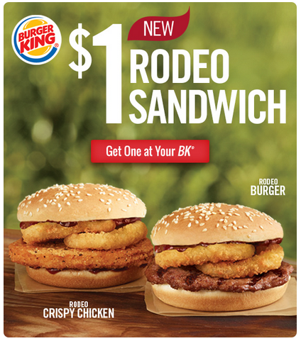 I LOVE Burger King Mention A Whopper Jr And Im THERE Haha AnywaysI Just Got An Email About Two New Sandwiches For Buck
