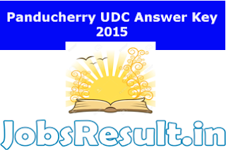 Panducherry UDC Answer Key 2015