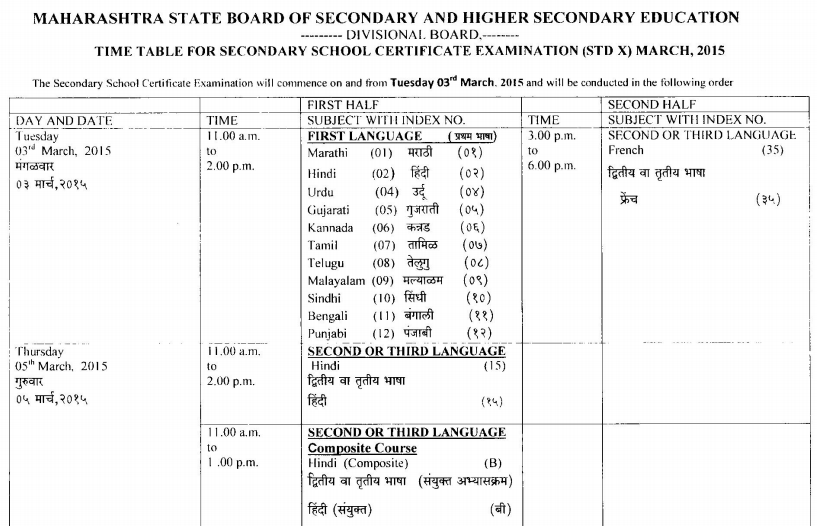 School Timetables 2015 Ssc Timetable 2015 Page 01