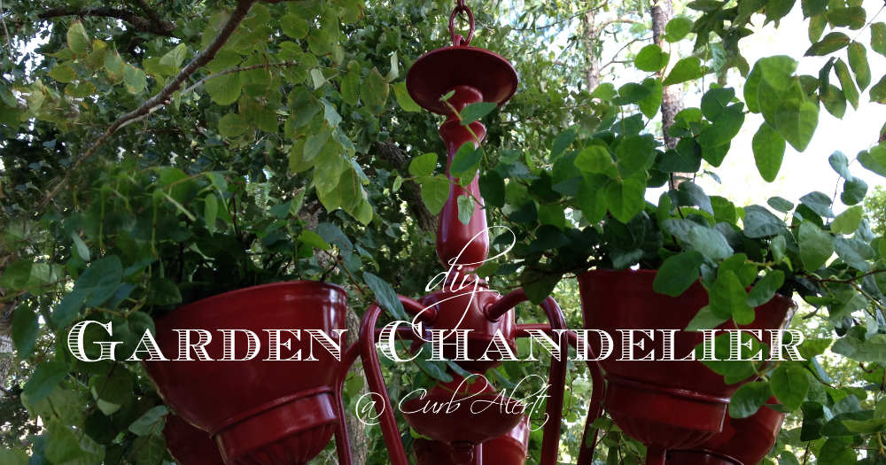 Curb Alert diy Garden Chandelier