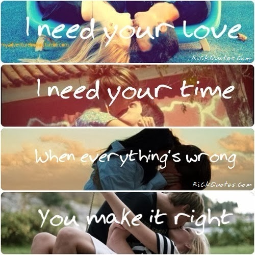 couple hug romantic quote I Need You Love