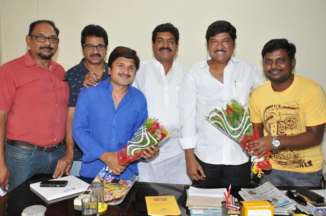 Maa President Rajendra Prasad Felicated by Tammineni and Others-HQ-Photo-5