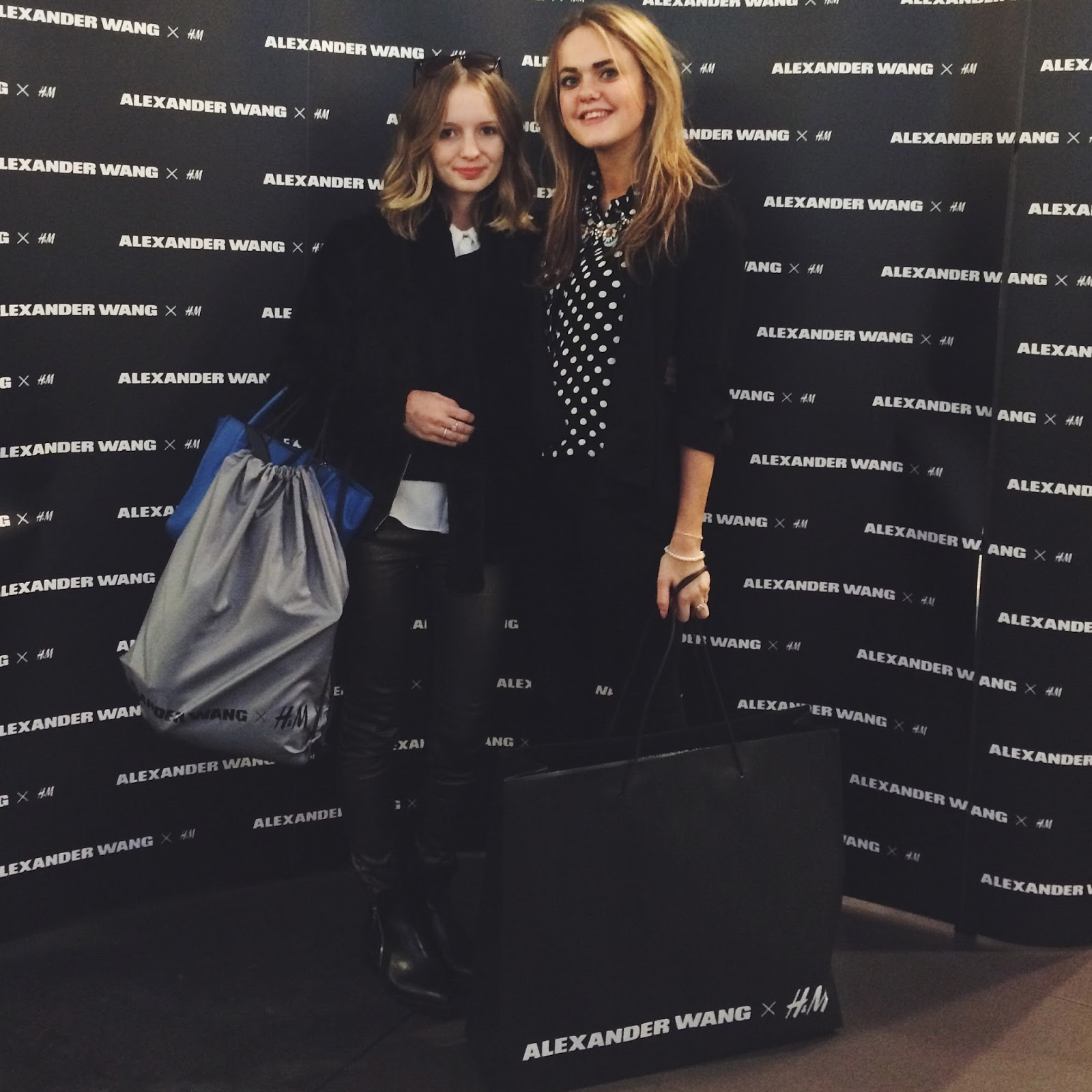 Girls at Alexander Wang x H&M Exclusive Shopping Event