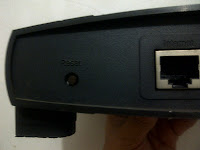 linksys router reset button