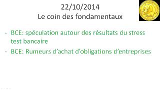 news actualités économiques et boursières 22/10/2014