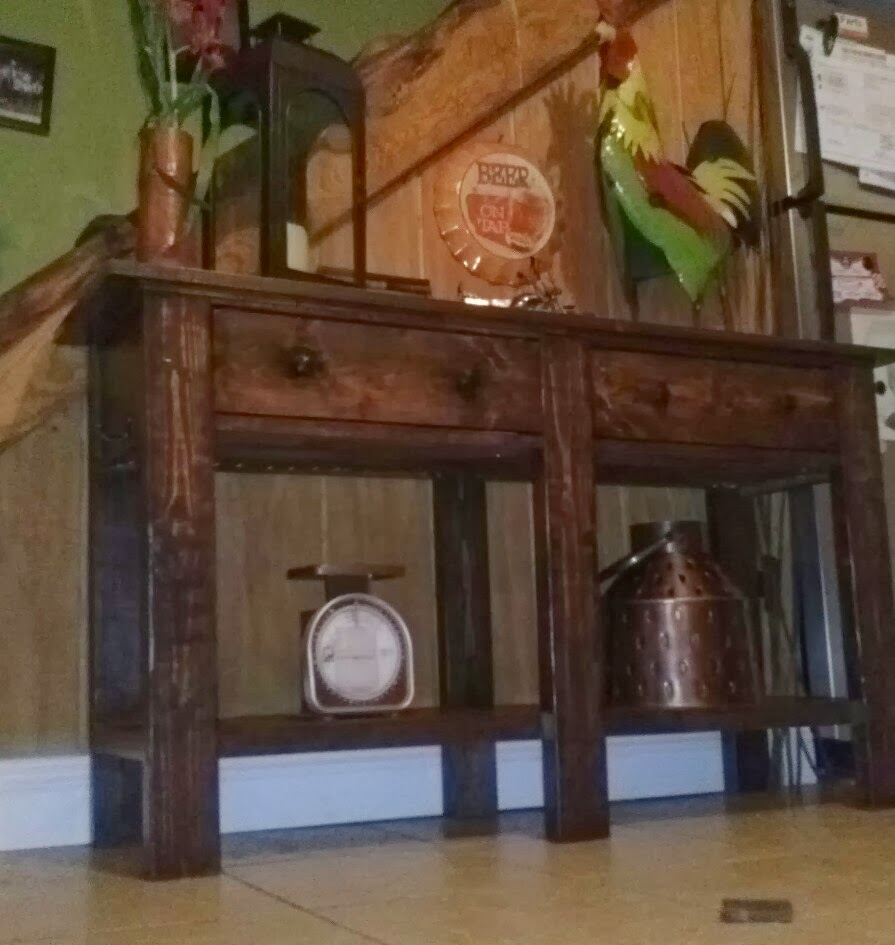 Pottery Barn Knock Off Console Table. From The Benchwright Collection