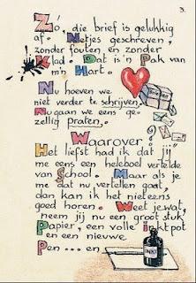 Carta original que recibió Lieneke