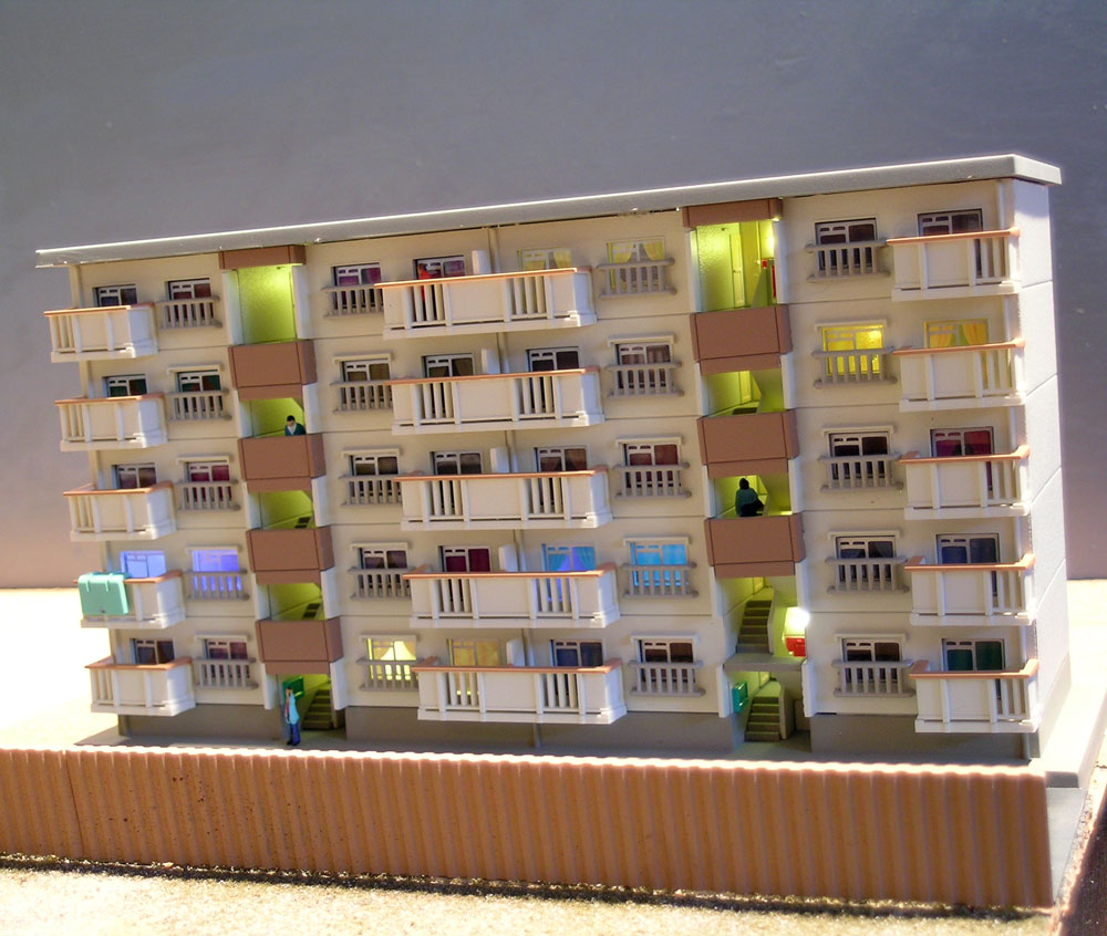Tokyo in n scale n scale japanese buildings for The model apartment
