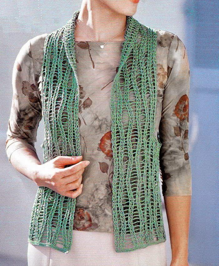 Crochet Sweaters: Crochet Vest Pattern Free - Lace Vest ...