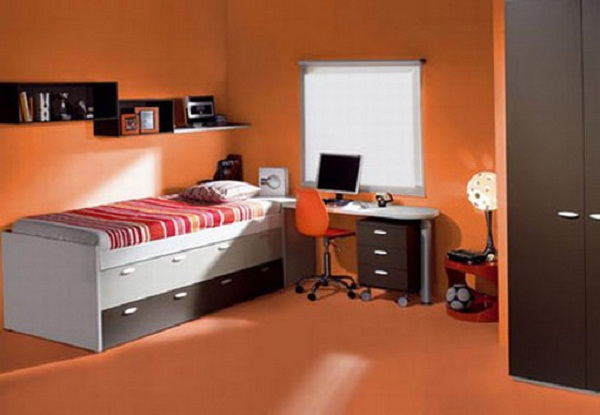 modern house images of modern orange bedroom decoration ideas