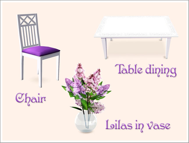 Lilac dining room