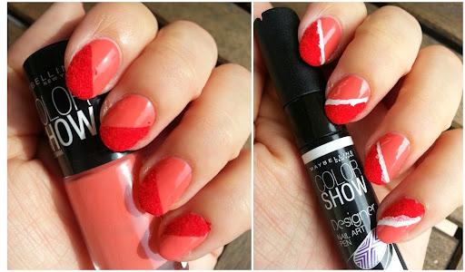 Red Velvet Flocking Powder Nail Art