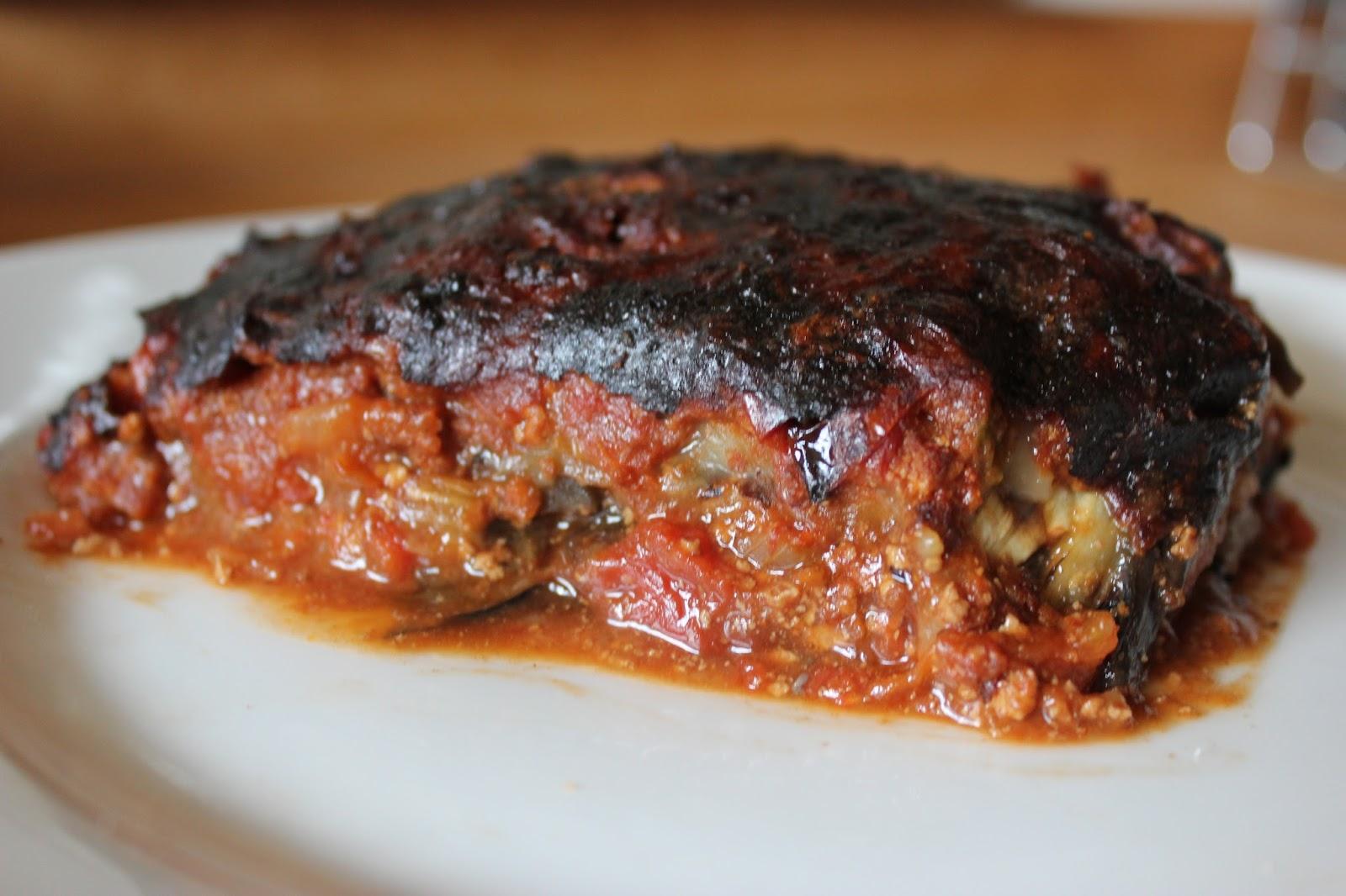 cuill re et saladier lasagnes d 39 aubergines la. Black Bedroom Furniture Sets. Home Design Ideas