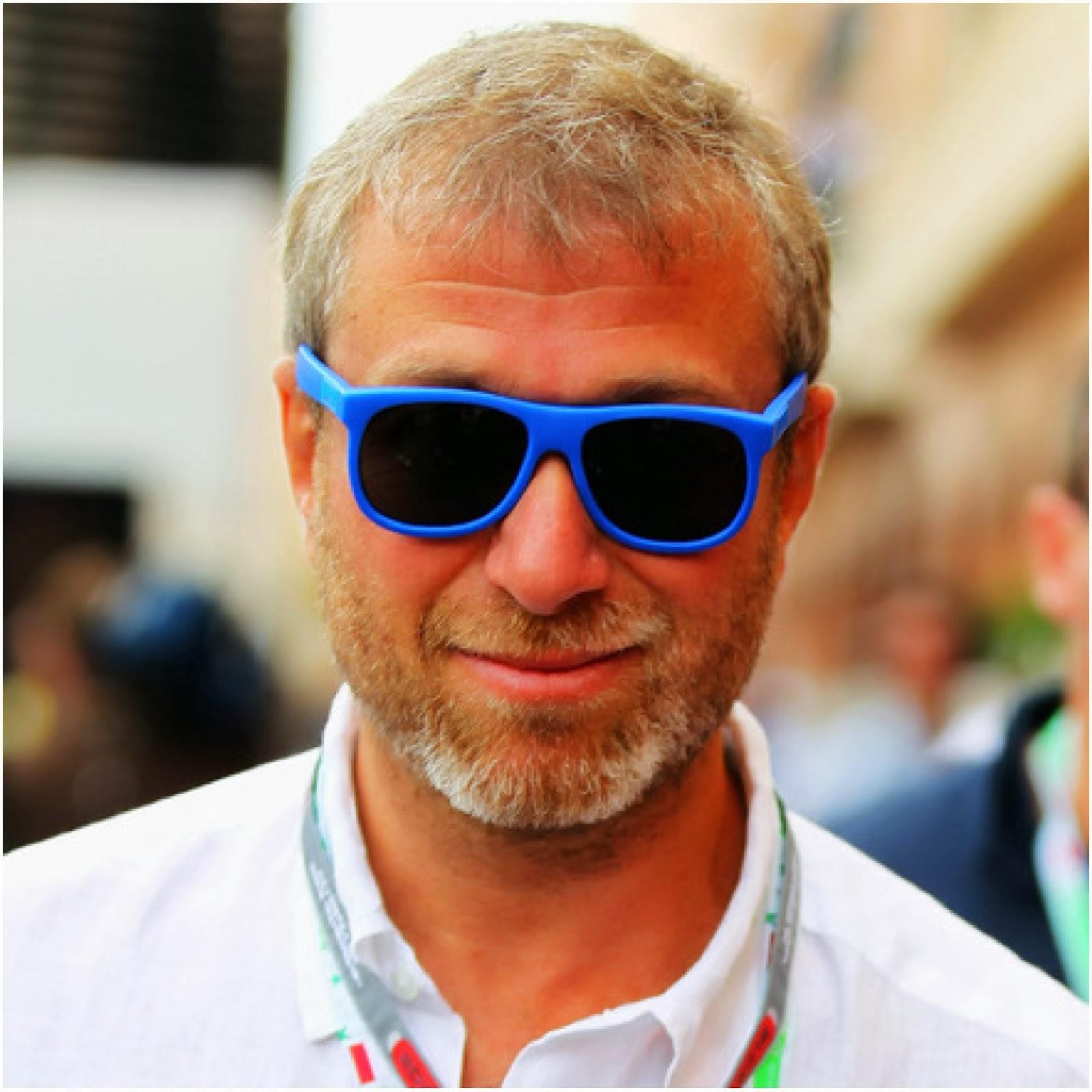 Roman Abramovich's blue Vilebrequin Sunglasses - St Bart's Street Style