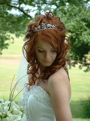 long wedding hairstyles with veil