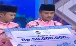 Ilal Pemenang Kedua Aksi indosiar mendapat hadiah Berupa Uang Tunai 50 Juta