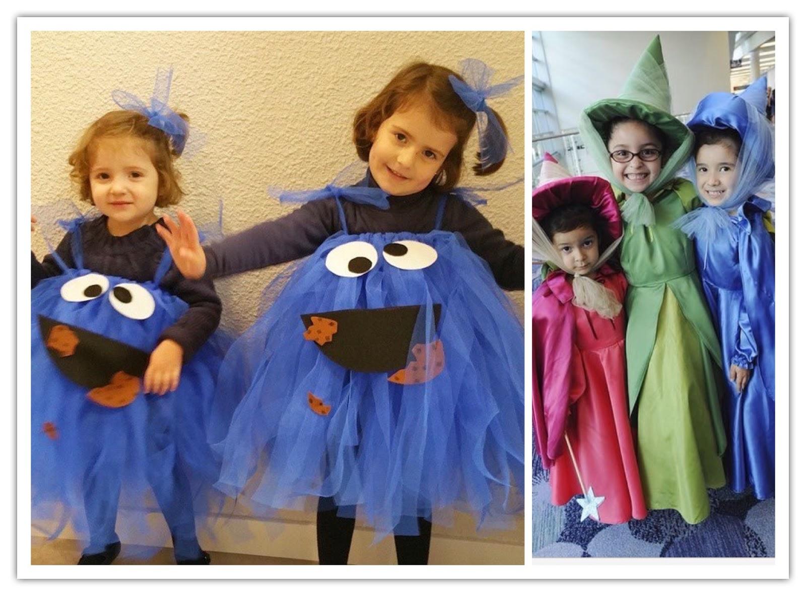 Disfraz de tul y cartulina para niñas