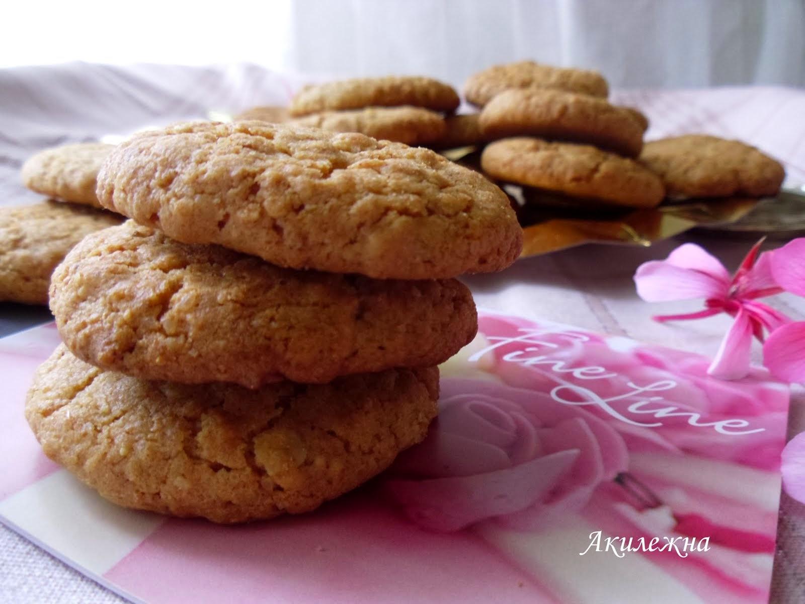 Интегральное овсяное печенье