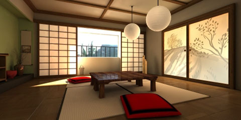Traditional interior design living room from japan for Living room ideas japan