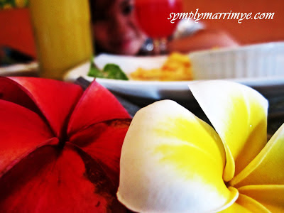 Red, yellow and white... blossom so bright
