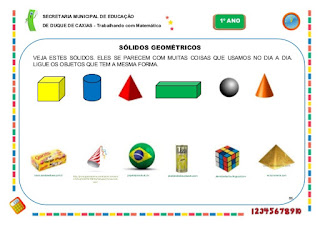 Atividades de matematica 1 ano solios geometricos