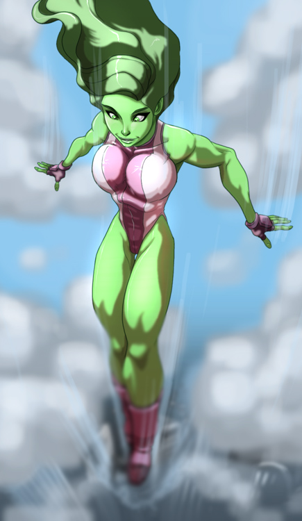 She-Hulk is falling for you por AmericanNinjaX