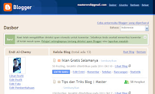 Cara merubah blogger ke dasboard lama gambar