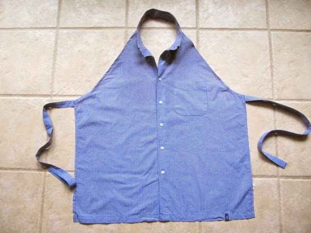 Sew Many Ways...: Recycled Men\'s Shirt to Super Cute Apron...