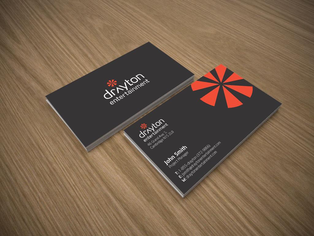 graphic design portfolio  drayton entertainment business card