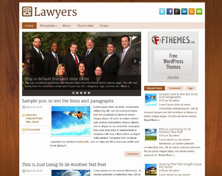 Lawyers Free Responsive WordPress Theme