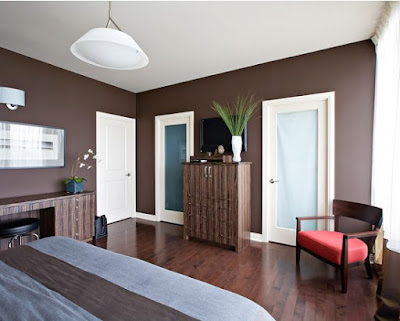 Bedroom with Brown Color