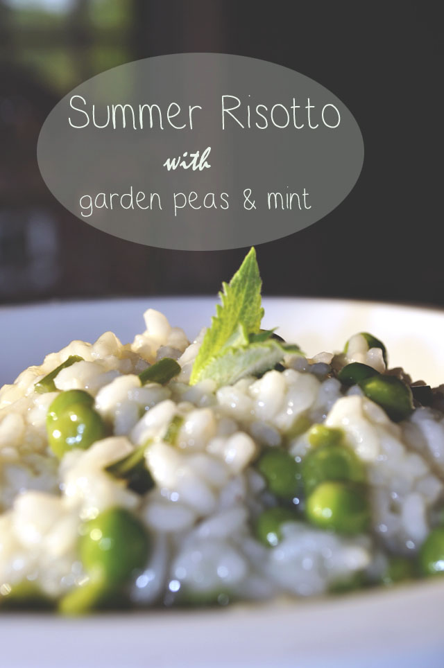 summer risotto with peas and mint | Kate Uhry photo