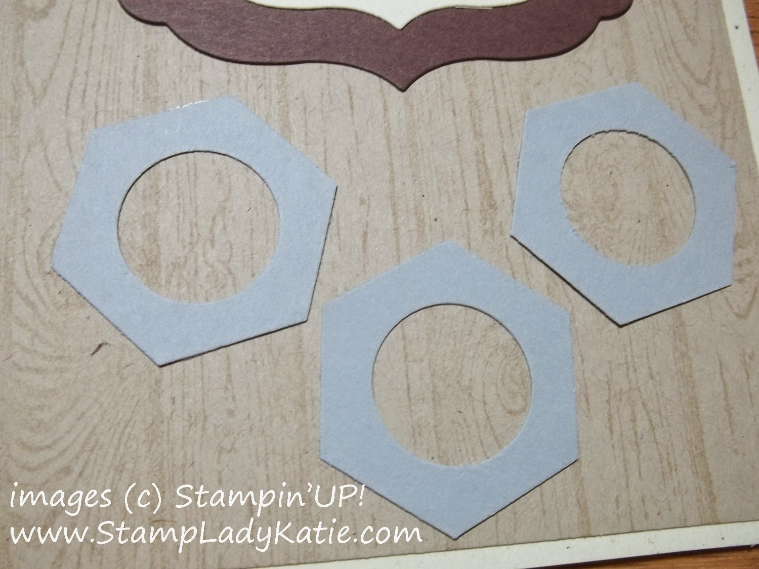 Masculine Card made with Stampin'UP!'s Little Letters Thinlit Dies and Hexagon Punch