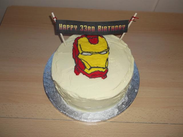 Feminist Cupcakes: Dairy Free Iron Man Birthday Cake