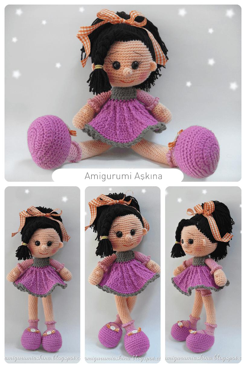 Niloya Amigurumi Free Pattern Doll Oyuncak Bebek : Yeni Bir Amigurumi ?eker K?z-?rg? Oyuncak Bebek Tiny ...