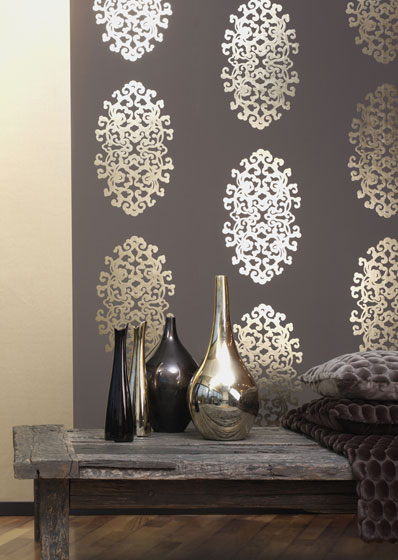 Wall paper modern  DIY Linear Wallpaper  A great look from Affordable  Decorators .
