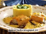 Pečený losos so šalotkami - recept
