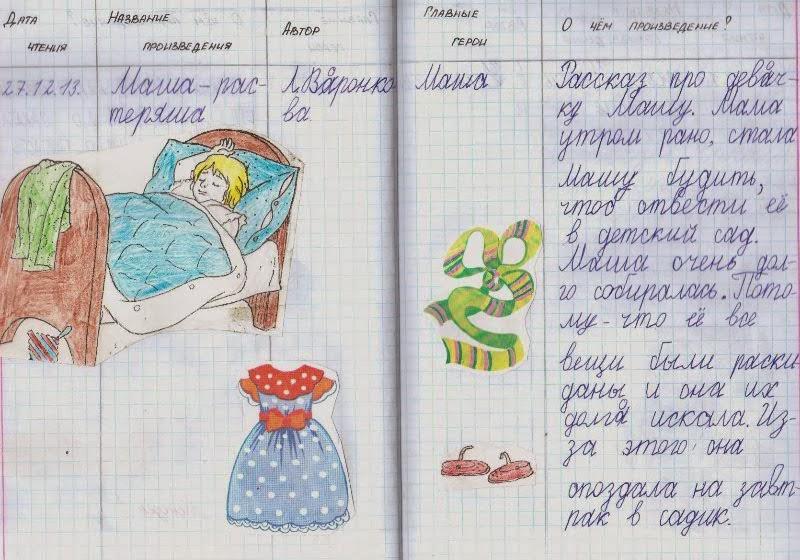 Читательский дневник 1 класс образец оформления распечатать plugin