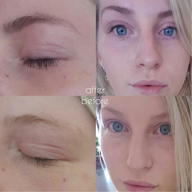 blonde problems brow amp lash tinting before and after