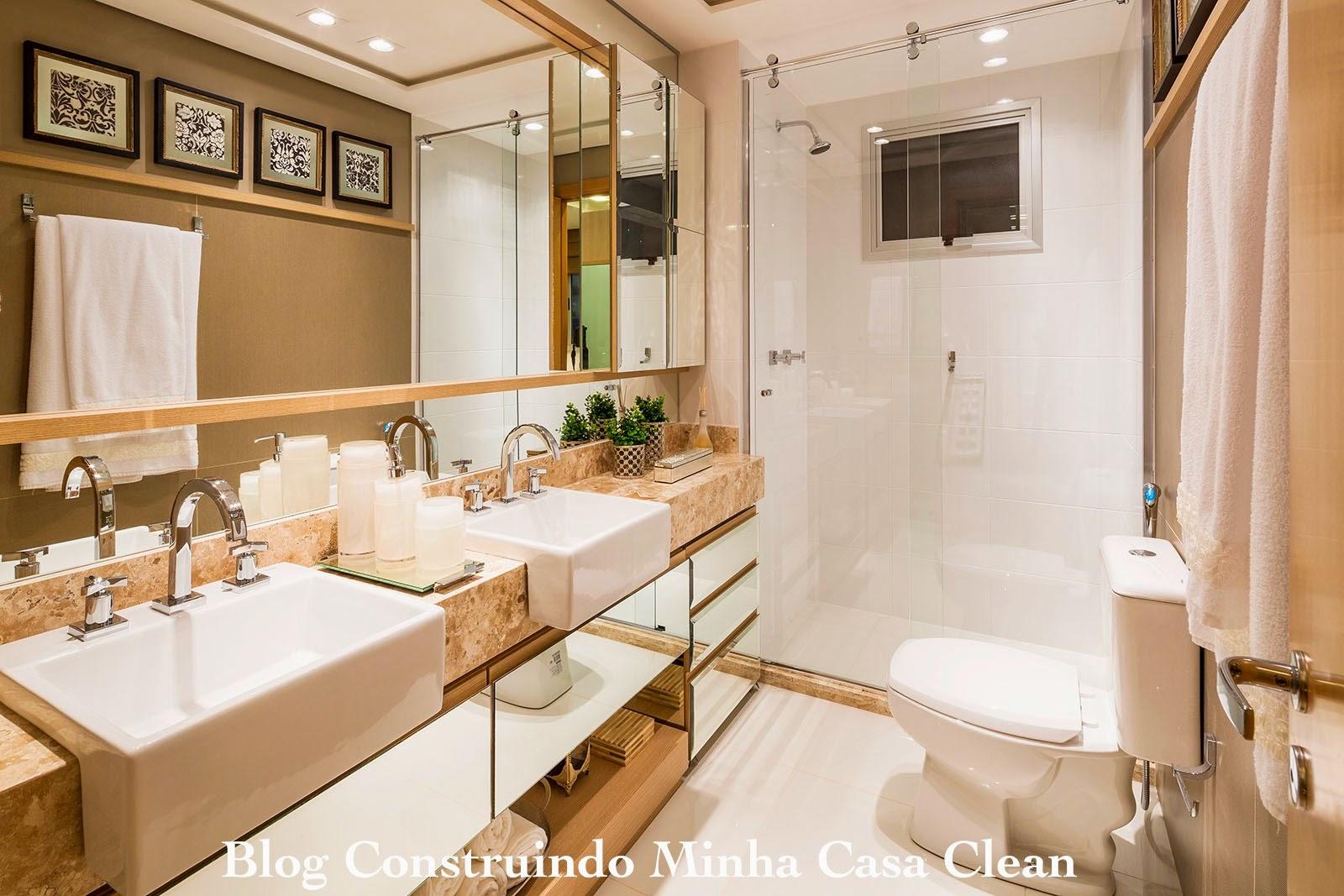 #495B1A Construindo Minha Casa Clean: Banheiros para Casais!!! Veja Dicas para  1600x1067 px Banheiros Modernos Decorados Com Pastilhas De Vidro 739